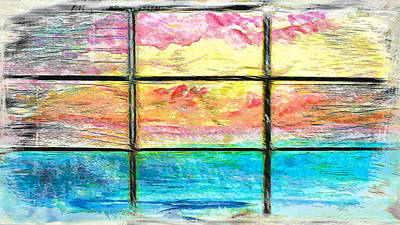 Window Scene Abstract Art Print by Tom Gowanlock
