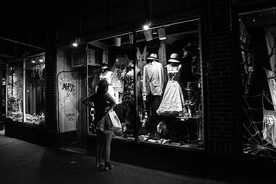 People Photograph - Window Shopping In Black And White by Greg Mimbs