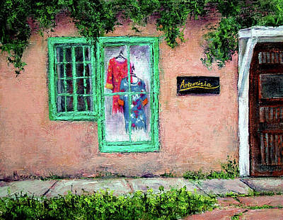 Painting - Window Shopping-taos by Jill Musser