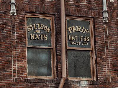 Historic Architecture Photograph - Window Signs For Hats by Buck Buchanan