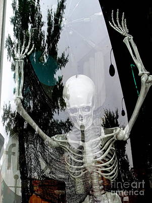 Photograph - Window Skeleton by Ed Weidman