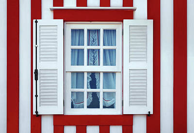Frame House Photograph - Window Stripes by Carlos Caetano