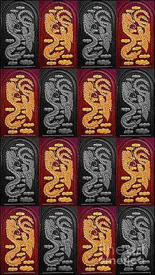 Digital Art - Window Stutter Dragon by Ian Gledhill