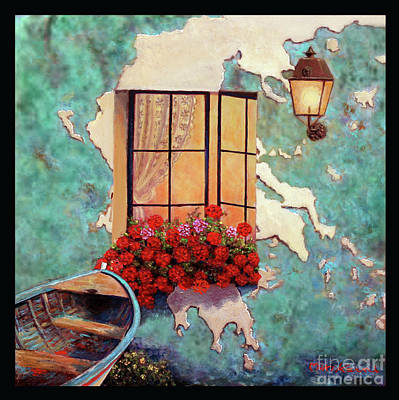 Painting - Window To Greece by Miki Karni