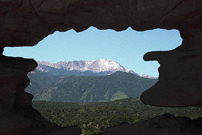 Photograph - Window To Pikes Peak by Will Burlingham