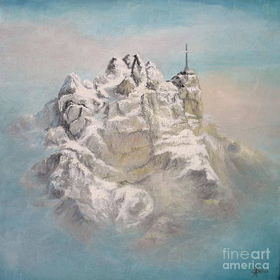 Art Print featuring the painting Window To Sky by Sorin Apostolescu