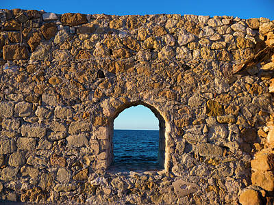 Photograph - Window To The Aegean Sea by Rae Tucker