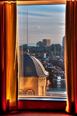Photograph - Window To The City - Liberty Hotel - Boston Cityscape by Joann Vitali