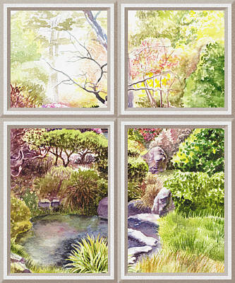 Painting - Window To The Garden by Irina Sztukowski