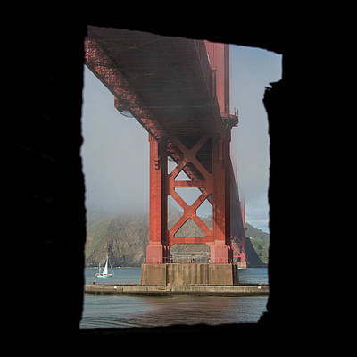 Art Print featuring the photograph window to the Golden Gate Bridge by Stephen Holst