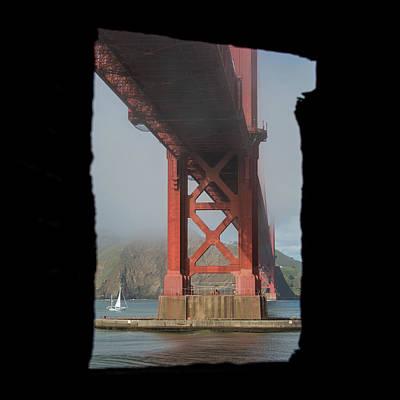 Photograph - window to the Golden Gate Bridge by Stephen Holst