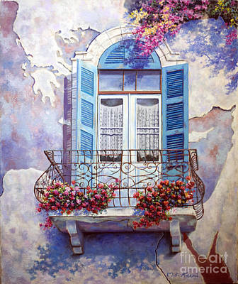 Painting - Window To The Mediterranean by Miki Karni