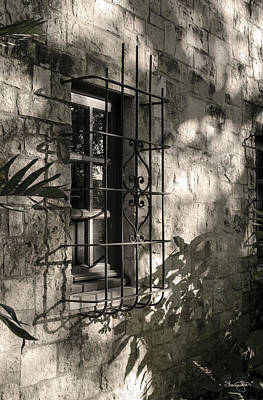 Photograph - Window To The Past-black And White by Shanna Hyatt