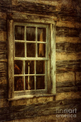 Cabin Window Digital Art - Window To The Past by Lois Bryan