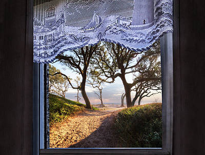 Photograph - Window To The Sea by Debra and Dave Vanderlaan