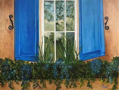 Painting Royalty Free Images - Window To The World Royalty-Free Image by Judy Jones