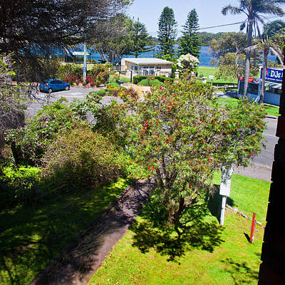 Photograph - Window View From Anchor Bay Motel Room by Miroslava Jurcik