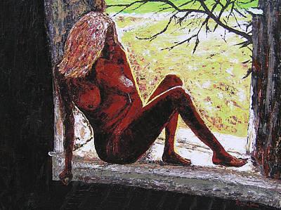 Window View Art Print by Ricklene Wren