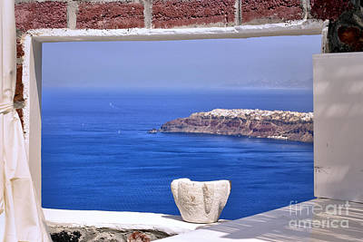 Window View To The Mediterranean Art Print