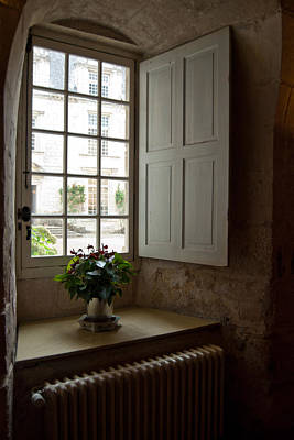 Photograph - Window Vignette Chateau D'usse by Jani Freimann