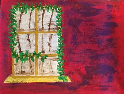Window Vine Original by Nannette Kelly