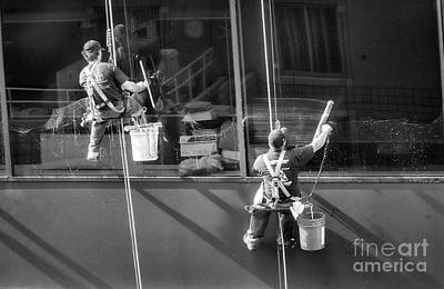 Photograph - Window Washer 20th Floor  by Chuck Kuhn