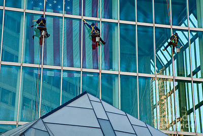 Photograph - Window Washers by Susan Cole Kelly