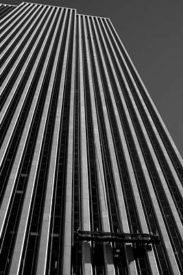 Photograph - Window Washers View - Black And White by Karol Livote