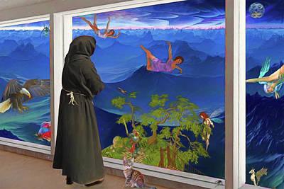 Digital Art - Window Watcher by John Haldane