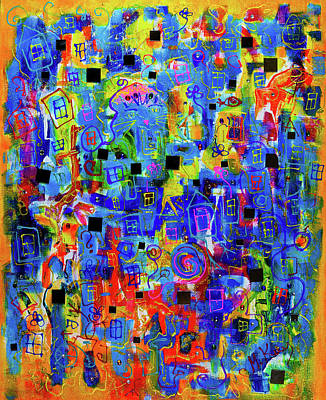 Painting - Windows And Mirrors by Maxim Komissarchik