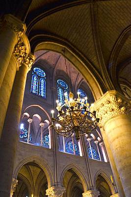 Photograph - Windows At The Notre Dame Cathedral In Paris by Kim Bemis
