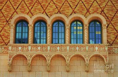 Windows At The Rose Theater, Omaha Art Print by Poet's Eye