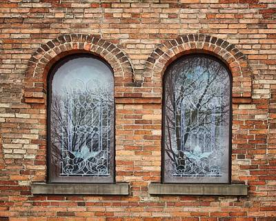 Civil War Site Photograph - Windows - First Congregational Church - Jackson - Michigan by Nikolyn McDonald