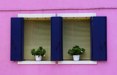 Photograph - Windows In Burano by Pietro Ebner
