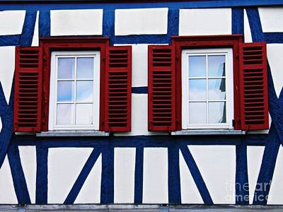 Photograph - Windows In Eltville 2 by Sarah Loft