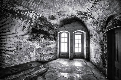 Photograph - Windows In Old Room by Garry Gay