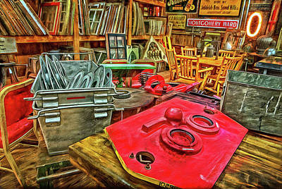 Photograph - Windows, Movie Reels, Signs And Clutter by Thom Zehrfeld