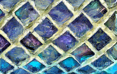Abstract Glass Photograph - Windows Of Color by Krissy Katsimbras