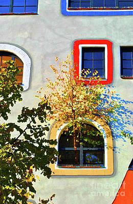 Friedensreich Photograph - Windows Of Hundertwasser by Jost Houk