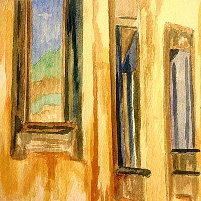 Charming Town Painting - Windows Of Old World Europe by Ellen Levinson