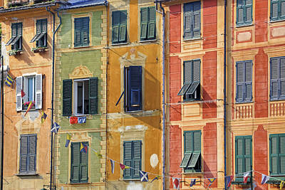 Windows Of Portofino Art Print by Joana Kruse