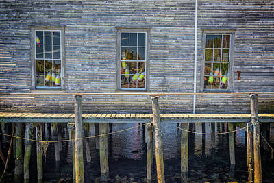Photograph - Windows Of The Lobstermen's Shop by Rick Berk