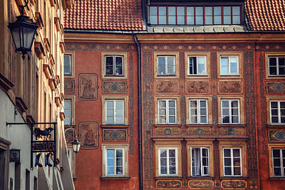 Townscape Photograph - Windows Of Warsaw  by Carol Japp