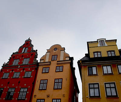 Windows On Gamla Stan Print by Linda Woods