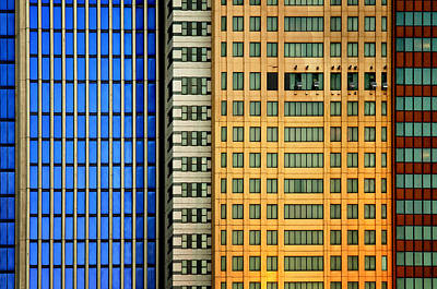 Colorful Photograph - Windows On The City by Mathilde Guillemot