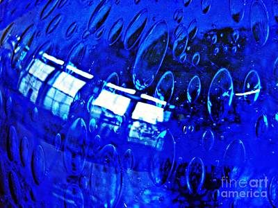 Photograph - Windows Reflected On A Blue Bowl 3 by Sarah Loft