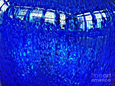 Photograph - Windows Reflected On A Blue Bowl by Sarah Loft