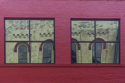Photograph - Windows Trfletions In Downtown Nashville Tn by Menachem Ganon