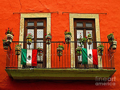 Windows With Flags Art Print by Mexicolors Art Photography