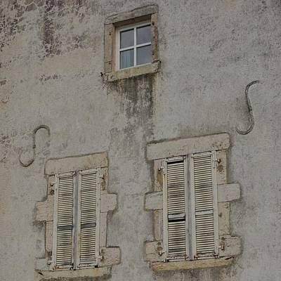 Photograph - Windows With Shutters by Cheryl Miller